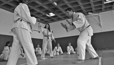 Cours de judo à l'AJCP 12